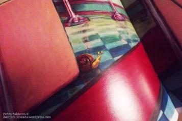 O pequeno Caramujo acompanha as aventuras de Chu, ao longo do livro.