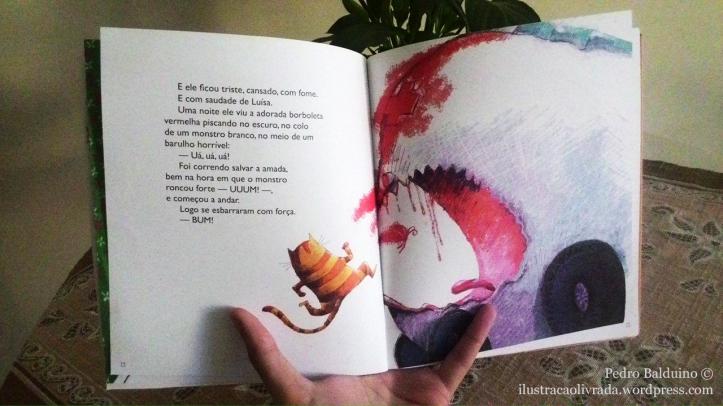 """O """"monstro"""" proposto pelo texto e reforçado pela ilustração, mais tarde se apresenta como uma ambulância."""